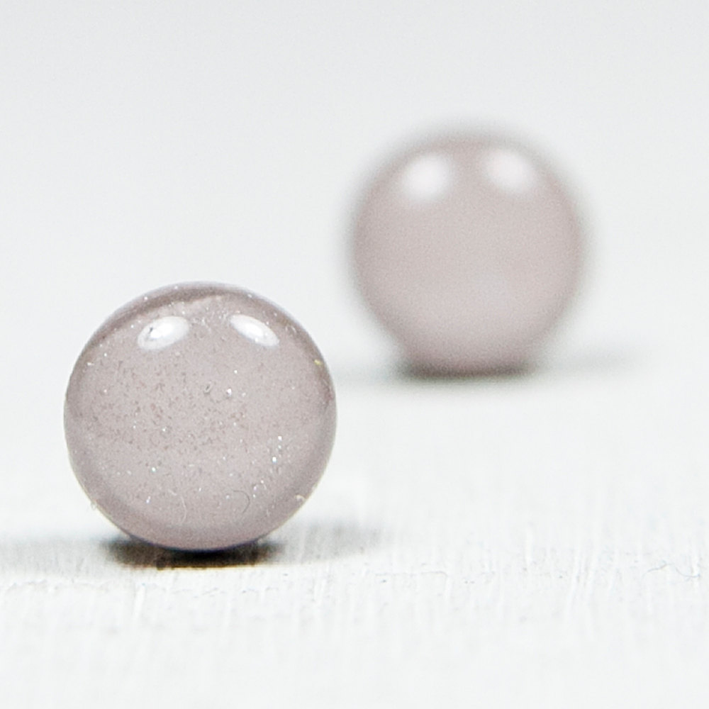 HighRise Gray Shimmer Polymer Clay Stud Earrings - Post Earrings Jewelry Studs